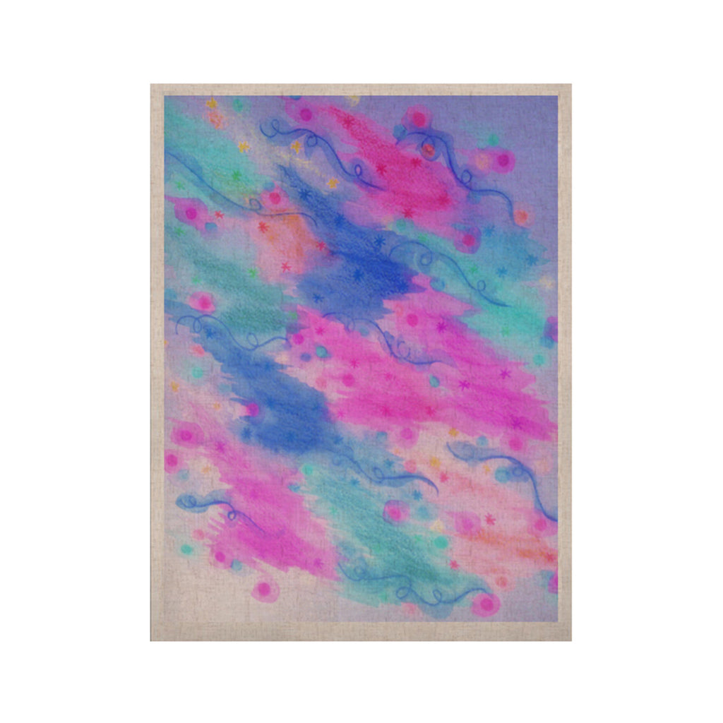 "Ebi Emporium ""Seeing Stars II"" Blue Pink KESS Naturals Canvas (Frame not Included) - KESS InHouse  - 1"
