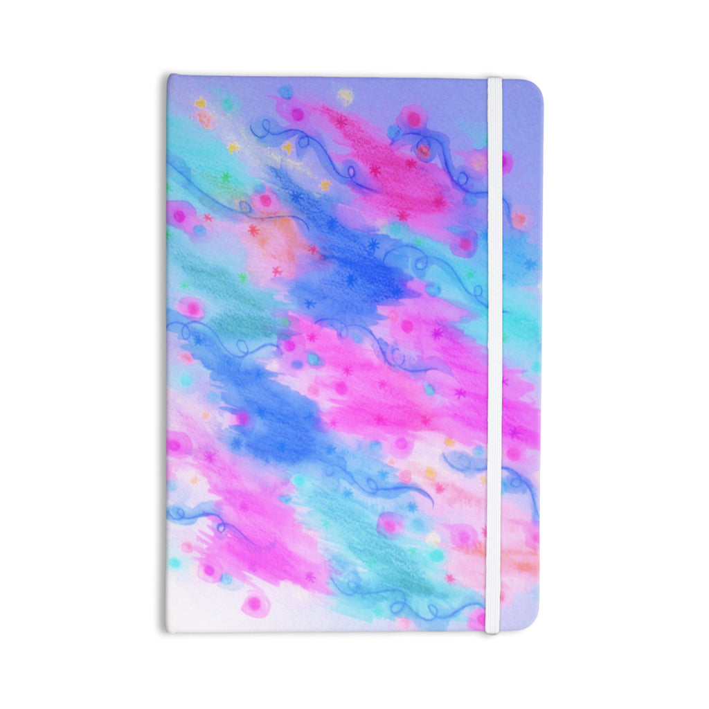 "Ebi Emporium ""Seeing Stars II"" Blue Pink Everything Notebook - KESS InHouse  - 1"