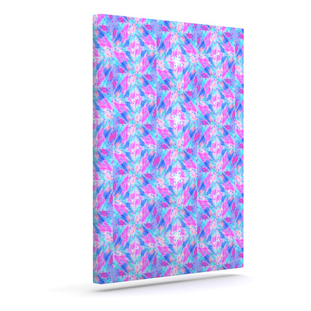 "Ebi Emporium ""Seeing Stars"" Blue Pink Canvas Art - KESS InHouse  - 1"