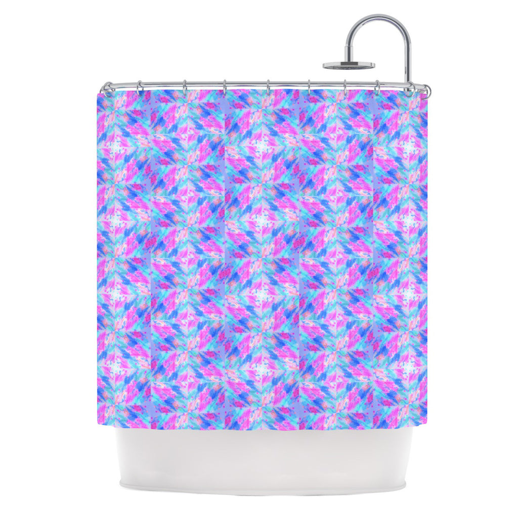"Ebi Emporium ""Seeing Stars"" Blue Pink Shower Curtain - KESS InHouse"