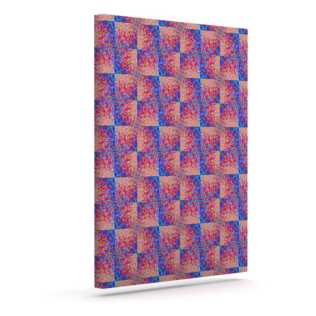"Ebi Emporium ""Splash Revisited"" Maroon Blue Canvas Art - KESS InHouse  - 1"
