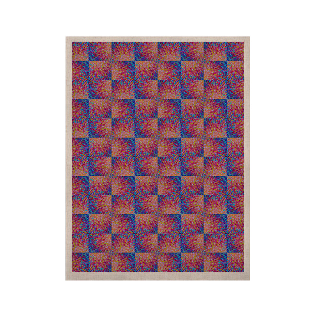 "Ebi Emporium ""Splash Revisited"" Maroon Blue KESS Naturals Canvas (Frame not Included) - KESS InHouse  - 1"