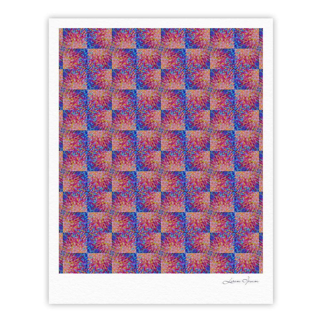"Ebi Emporium ""Splash Revisited"" Maroon Blue Fine Art Gallery Print - KESS InHouse"
