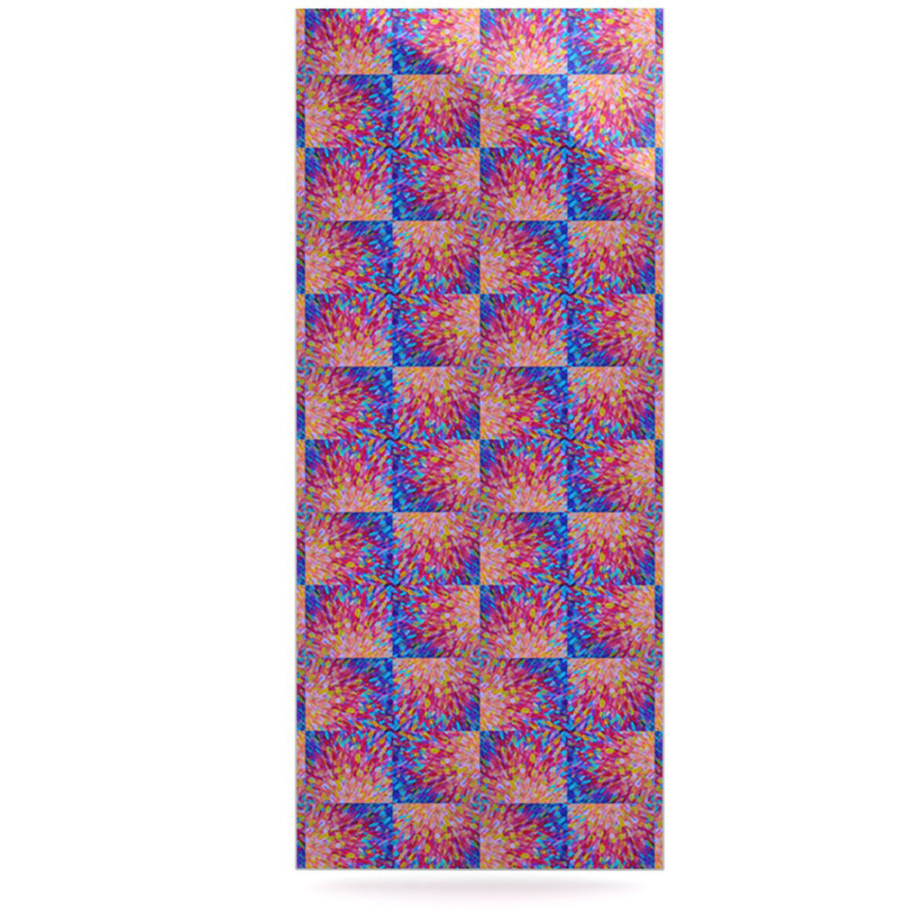 "Ebi Emporium ""Splash Revisited"" Maroon Blue Luxe Rectangle Panel - KESS InHouse  - 1"