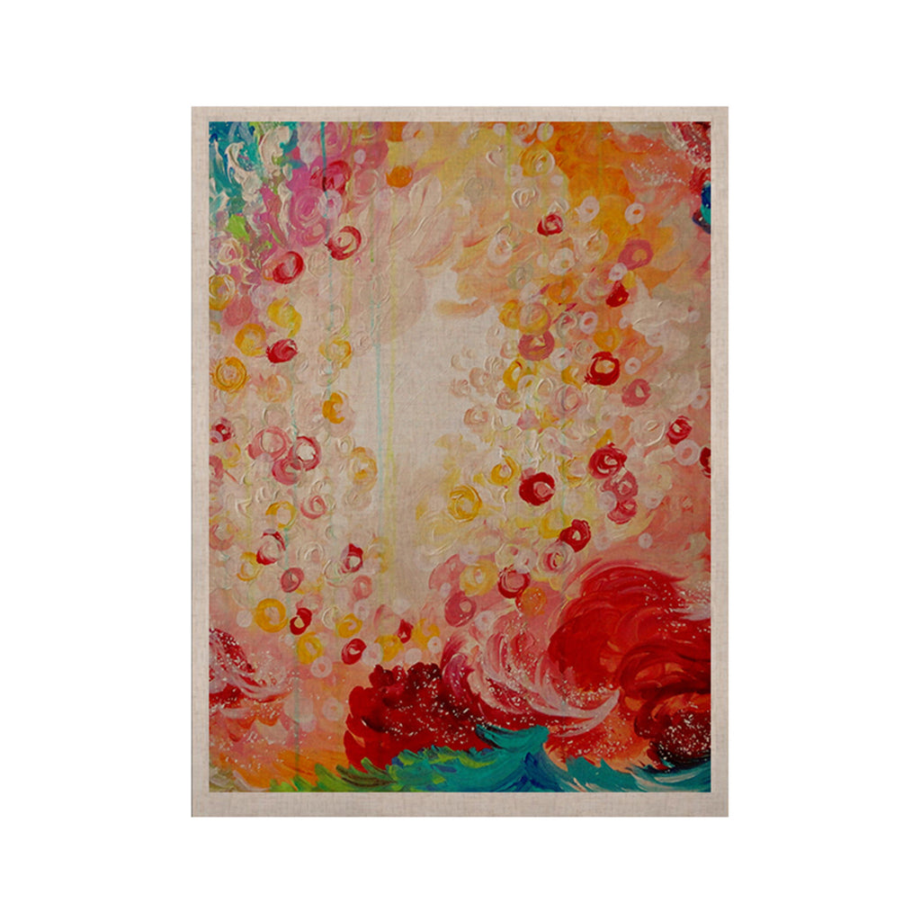 "Ebi Emporium ""Summer Days"" Red Tan KESS Naturals Canvas (Frame not Included) - KESS InHouse  - 1"