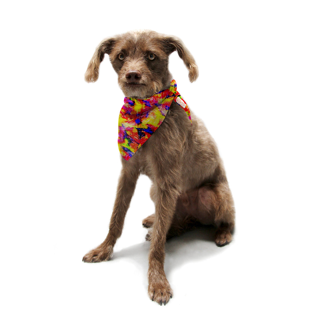 "Ebi Emporium ""The Flock"" Yellow Red Pet Bandana - KESS InHouse  - 1"