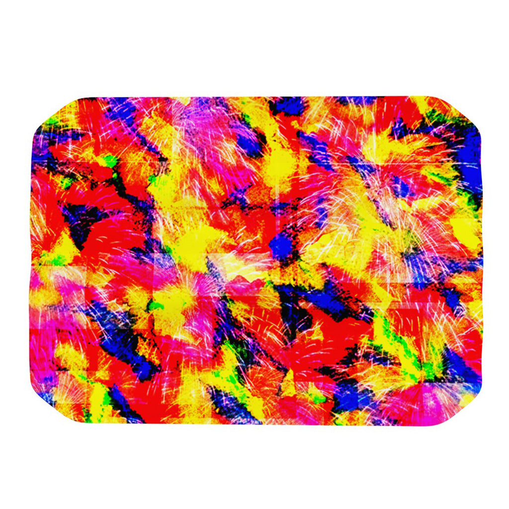 "Ebi Emporium ""The Flock"" Yellow Red Place Mat - KESS InHouse"