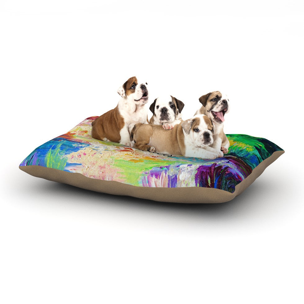 "Ebi Emporium ""Adventure Awaits"" Painting Typography Dog Bed - KESS InHouse  - 2"