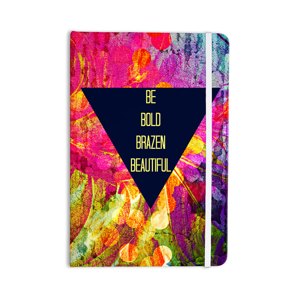 "Ebi Emporium ""Be Bold Brazen Beautiful"" Pink Rainbow Everything Notebook - KESS InHouse  - 1"