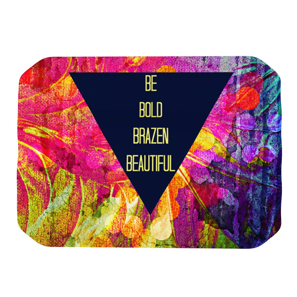 "Ebi Emporium ""Be Bold Brazen Beautiful"" Pink Rainbow Place Mat - KESS InHouse"