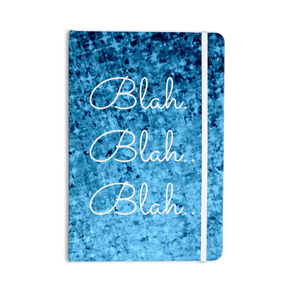"Ebi Emporium ""Blah Blah Blah"" Blue Glitter Everything Notebook - KESS InHouse  - 1"