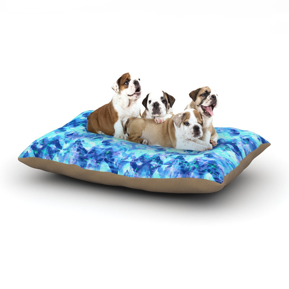 "Ebi Emporium ""C'est La Vie Revisited"" Blue Aqua Dog Bed - KESS InHouse  - 1"