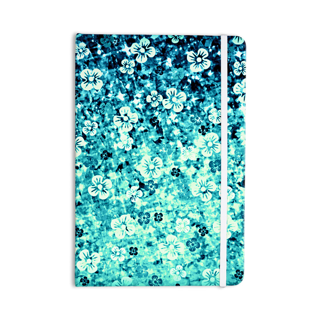 "Ebi Emporium ""Flower Power in Blue"" Teal Aqua Everything Notebook - KESS InHouse  - 1"