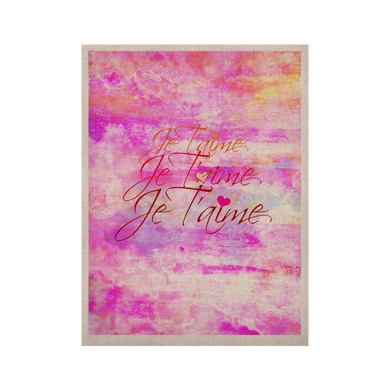 "Ebi Emporium ""Je T'aime II"" Abstract Pink KESS Naturals Canvas (Frame not Included) - KESS InHouse  - 1"