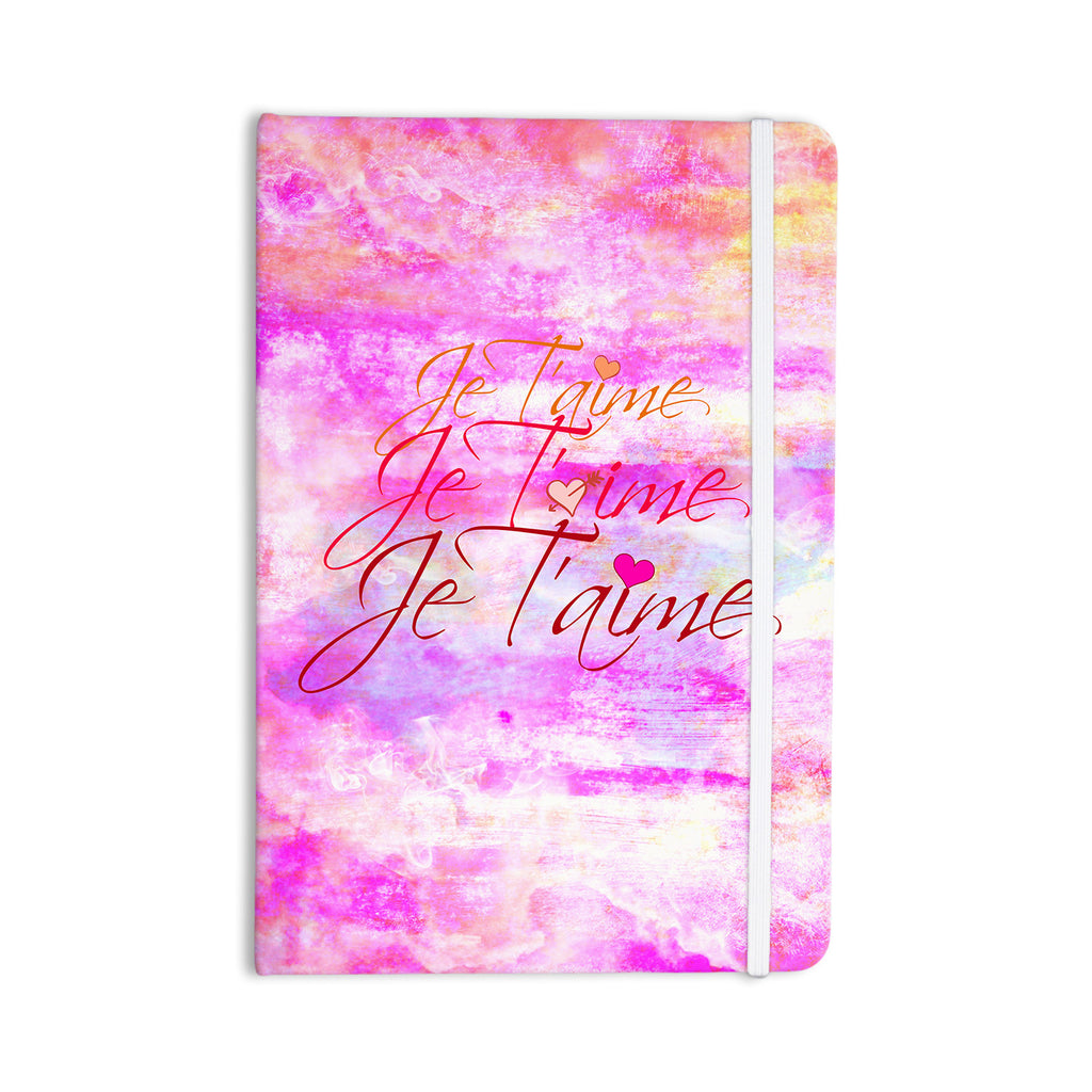 "Ebi Emporium ""Je T'aime II"" Abstract Pink Everything Notebook - KESS InHouse  - 1"