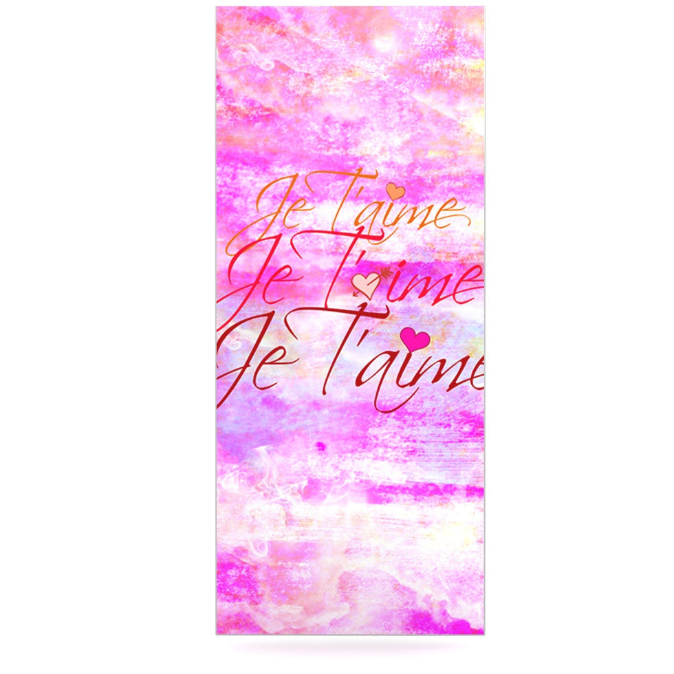 "Ebi Emporium ""Je T'aime II"" Abstract Pink Luxe Rectangle Panel - KESS InHouse  - 1"