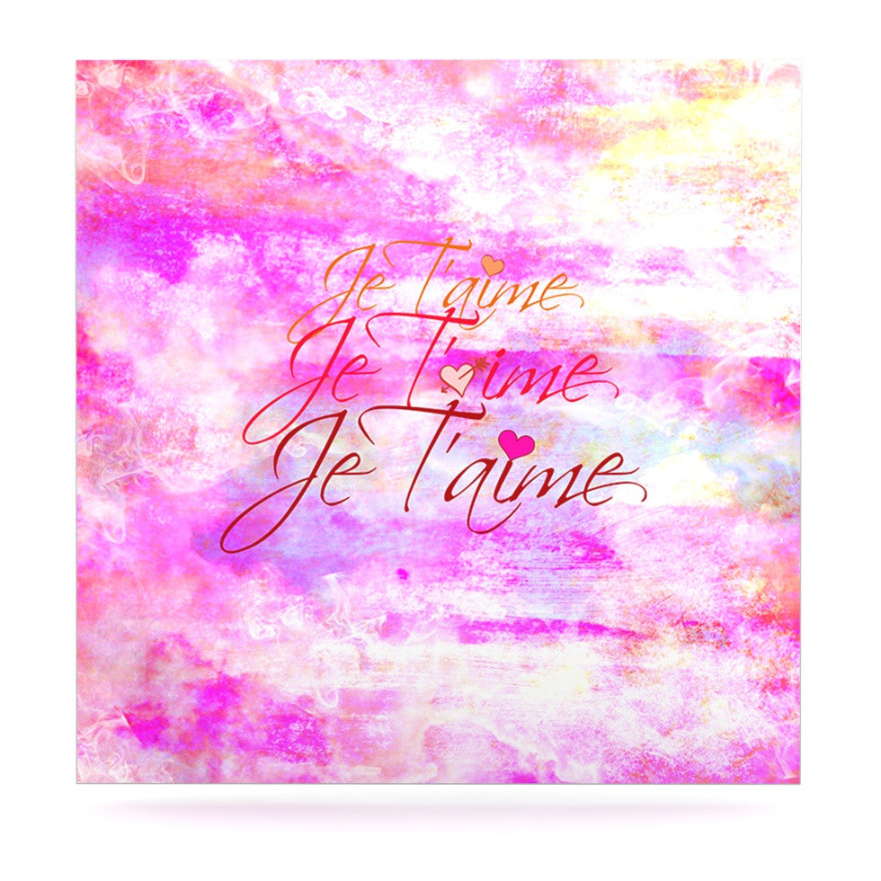 "Ebi Emporium ""Je T'aime II"" Abstract Pink Luxe Square Panel - KESS InHouse  - 1"