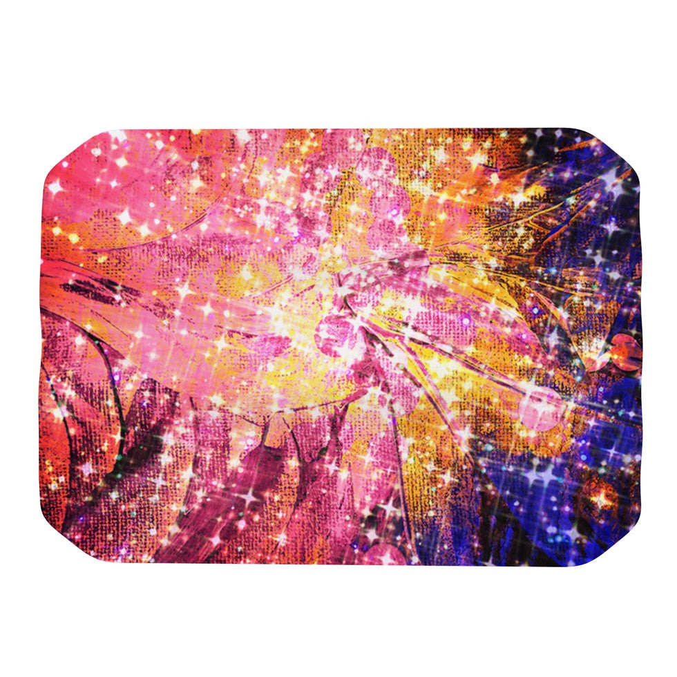 "Ebi Emporium ""Out There"" Pink Yellow Place Mat - KESS InHouse"