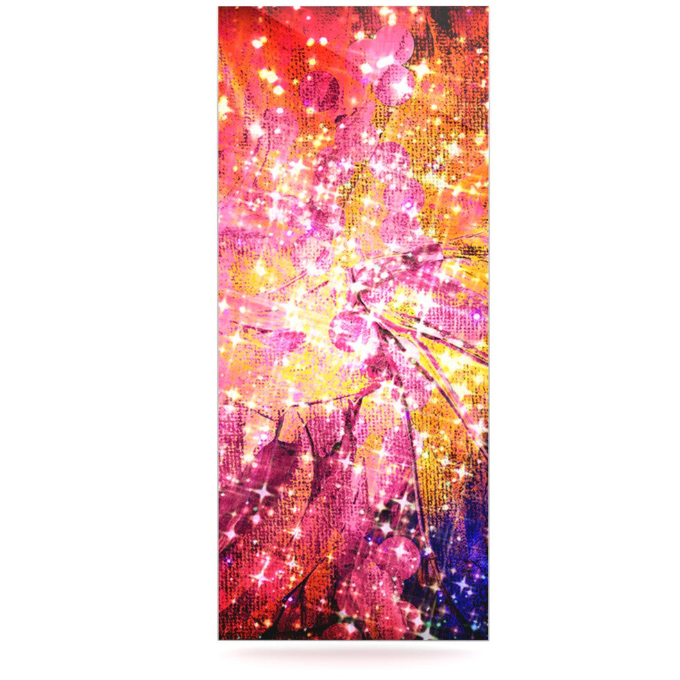 "Ebi Emporium ""Out There"" Pink Yellow Luxe Rectangle Panel - KESS InHouse  - 1"