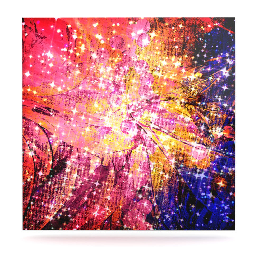 "Ebi Emporium ""Out There"" Pink Yellow Luxe Square Panel - KESS InHouse  - 1"
