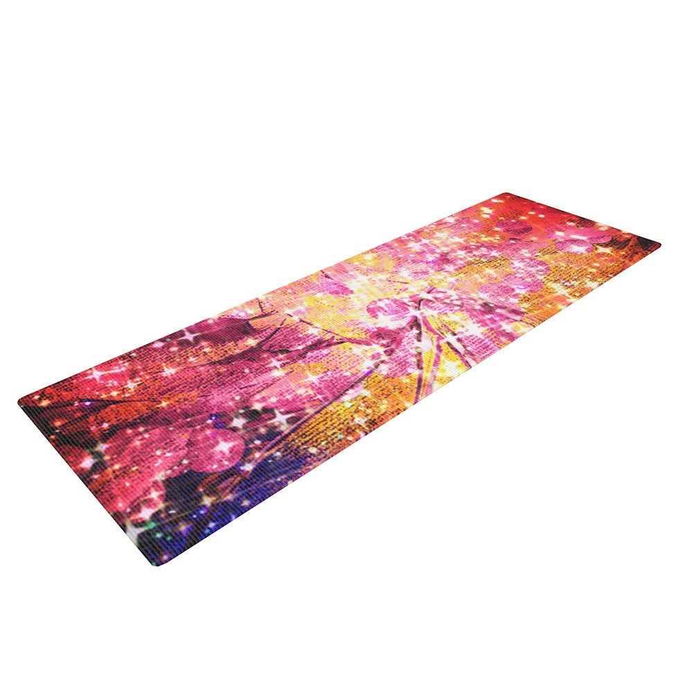 "Ebi Emporium ""Out There"" Pink Yellow Yoga Mat - KESS InHouse  - 1"