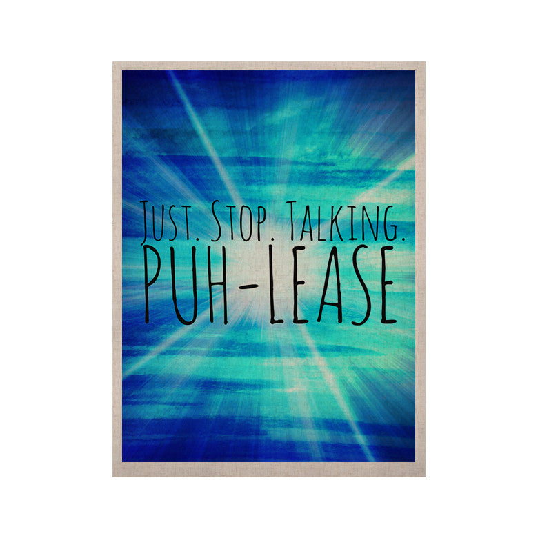 "Ebi Emporium ""Puh-lease"" Blue Aqua KESS Naturals Canvas (Frame not Included) - KESS InHouse  - 1"