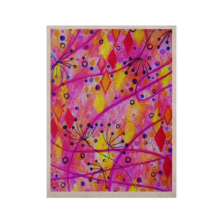 "Ebi Emporium ""Into the Fall 2"" Pink Yellow KESS Naturals Canvas (Frame not Included) - KESS InHouse  - 1"