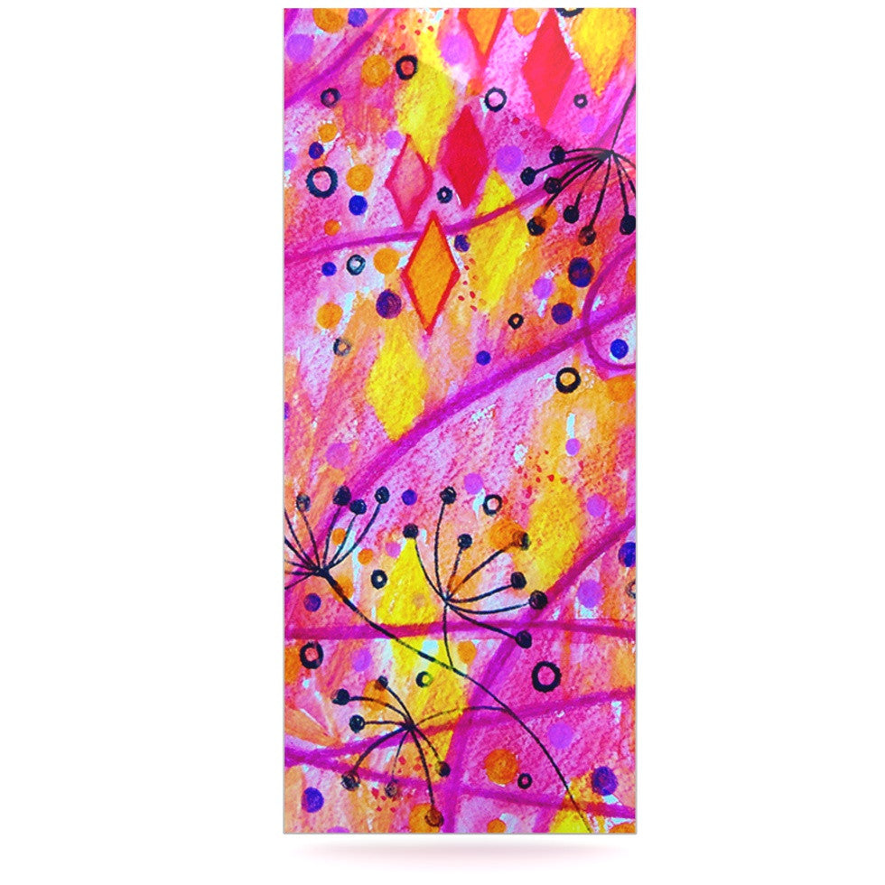 "Ebi Emporium ""Into the Fall 2"" Pink Yellow Luxe Rectangle Panel - KESS InHouse  - 1"