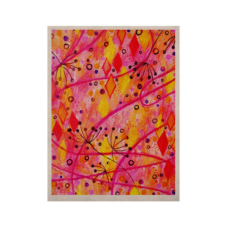 "Ebi Emporium ""Into the Fall"" Orange Pink KESS Naturals Canvas (Frame not Included) - KESS InHouse  - 1"
