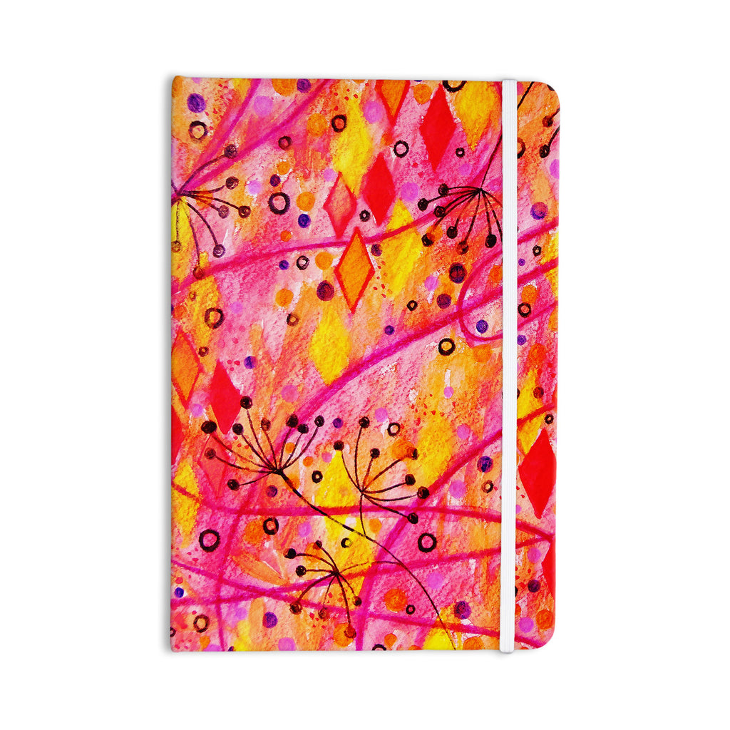 "Ebi Emporium ""Into the Fall"" Orange Pink Everything Notebook - KESS InHouse  - 1"