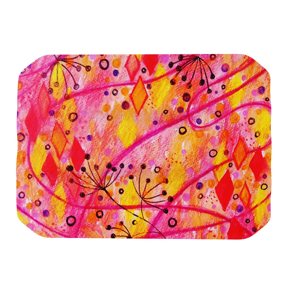 "Ebi Emporium ""Into the Fall"" Orange Pink Place Mat - KESS InHouse"