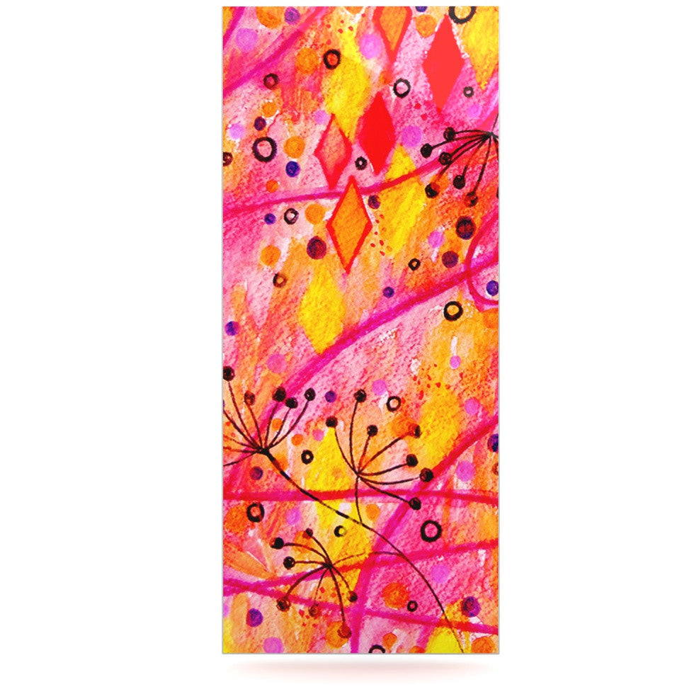 "Ebi Emporium ""Into the Fall"" Orange Pink Luxe Rectangle Panel - KESS InHouse  - 1"