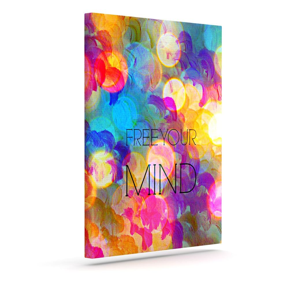 "Ebi Emporium ""Free Your Mind"" Rainbow Canvas Art - KESS InHouse  - 1"