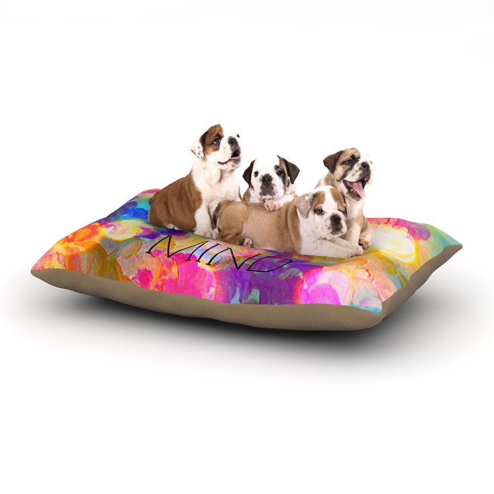 "Ebi Emporium ""Free Your Mind"" Rainbow Dog Bed - KESS InHouse  - 1"
