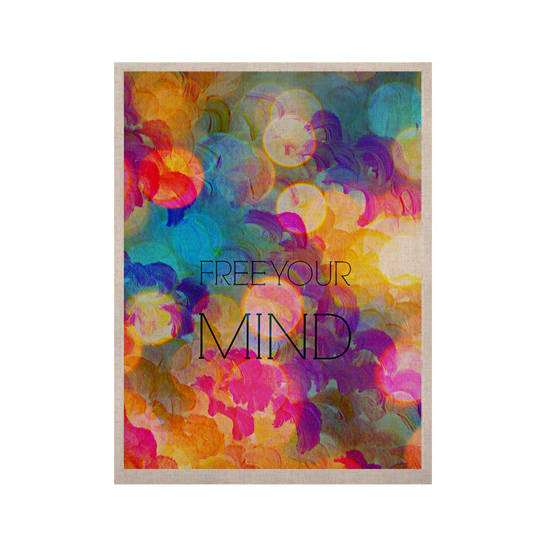 "Ebi Emporium ""Free Your Mind"" Rainbow KESS Naturals Canvas (Frame not Included) - KESS InHouse  - 1"