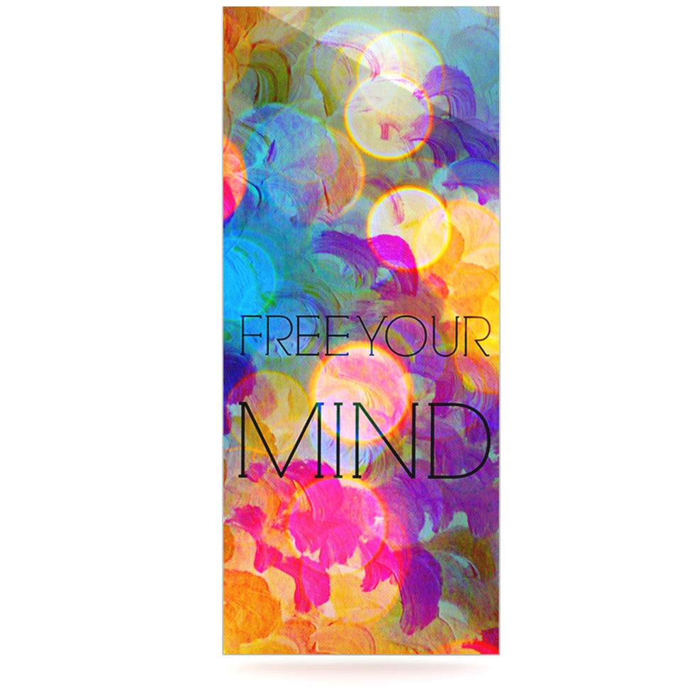 "Ebi Emporium ""Free Your Mind"" Rainbow Luxe Rectangle Panel - KESS InHouse  - 1"
