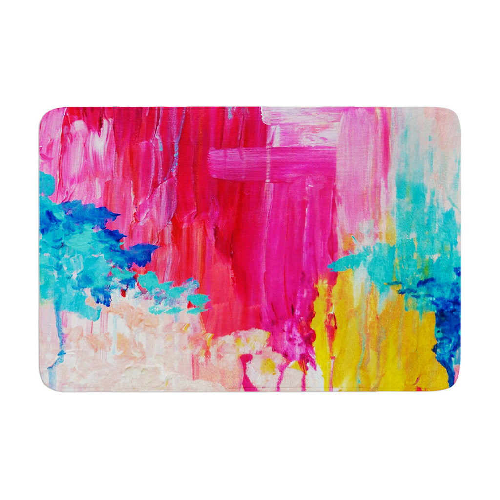"Ebi Emporium ""Elated"" Multicolor Paint Memory Foam Bath Mat - KESS InHouse"