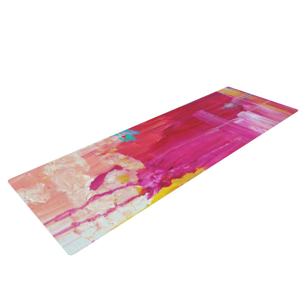 "Ebi Emporium ""Elated"" Multicolor Paint Yoga Mat - KESS InHouse  - 1"