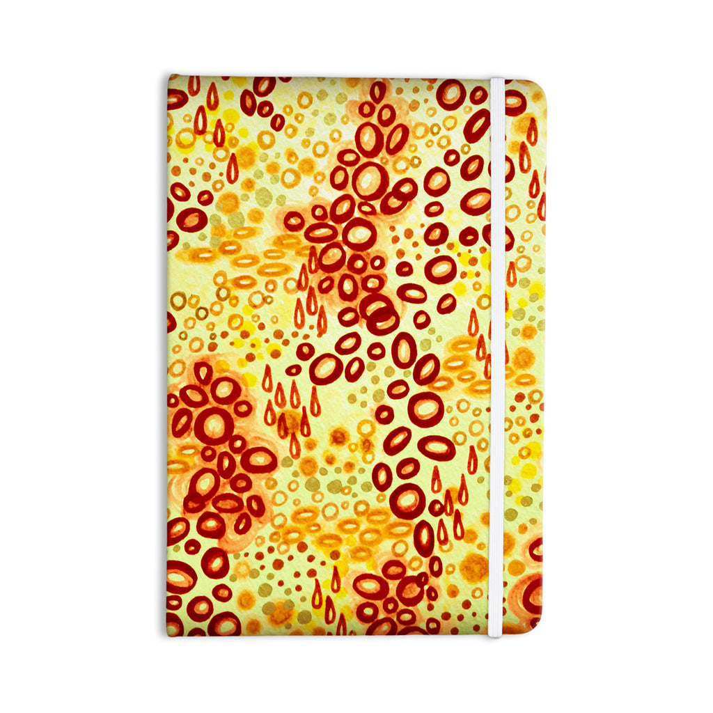"Ebi Emporium ""Circular Persuasian Brown"" Yellow Everything Notebook - KESS InHouse  - 1"