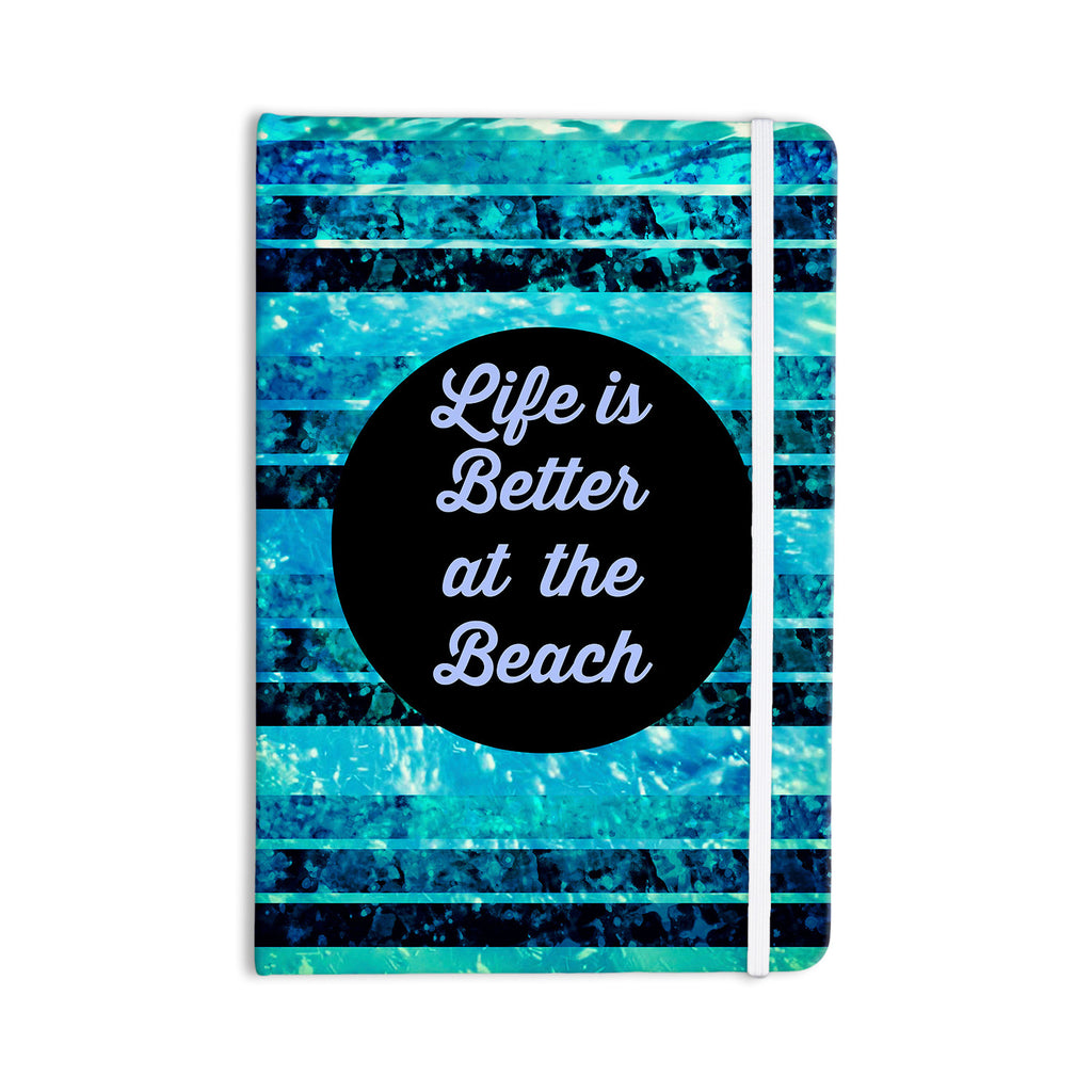 "Ebi Emporium ""Life is Better at the Beach"" Blue Aqua Everything Notebook - KESS InHouse  - 1"