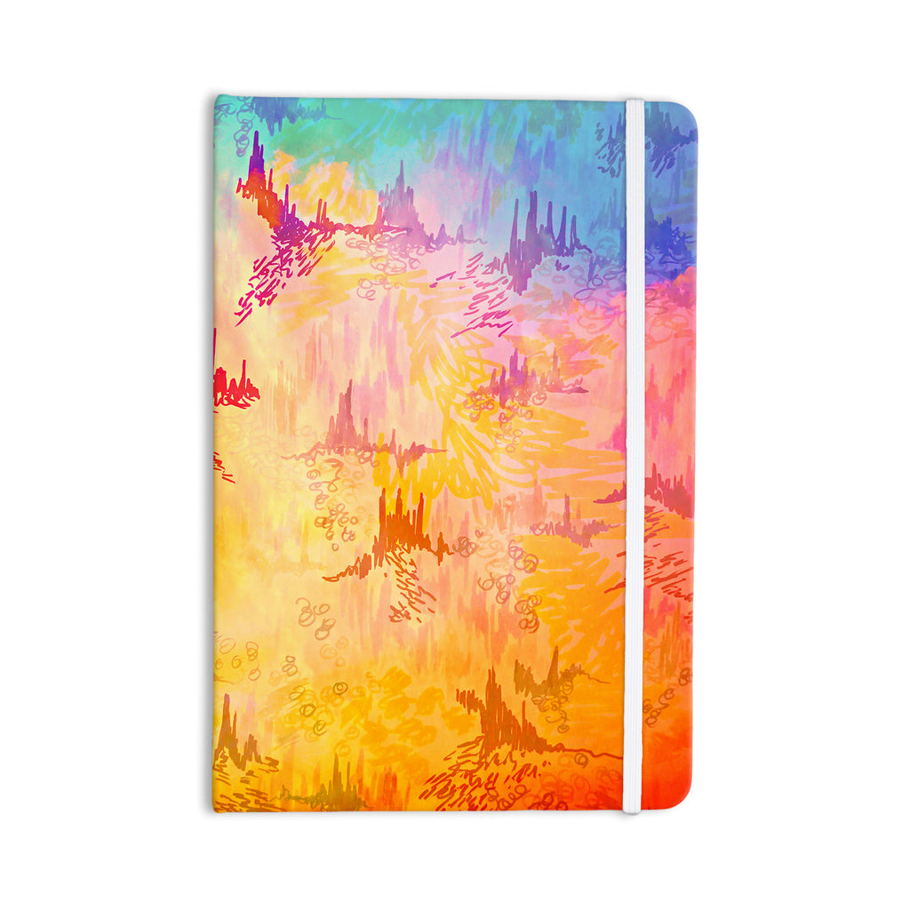 "Ebi Emporium ""Sky Risers II"" Pink Yellow Everything Notebook - KESS InHouse  - 1"