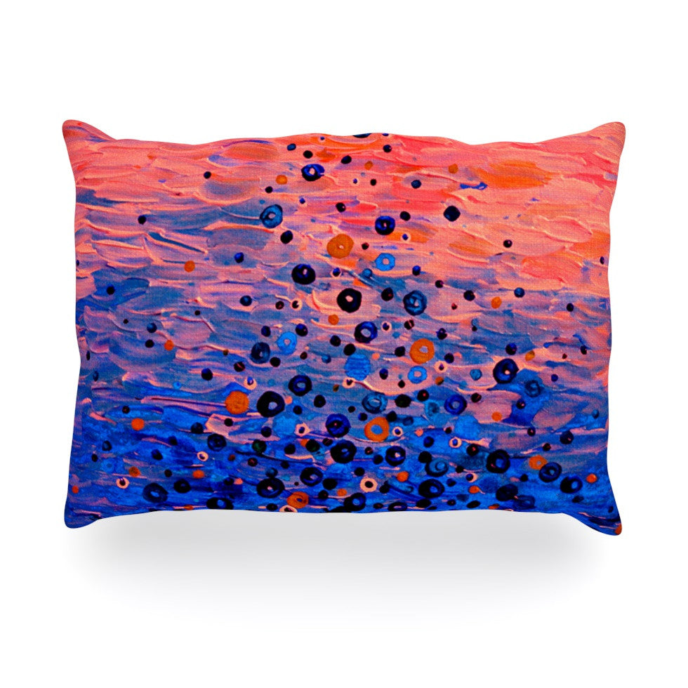 "Ebi Emporium ""What Goes Up"" Blue Pink Oblong Pillow - KESS InHouse"