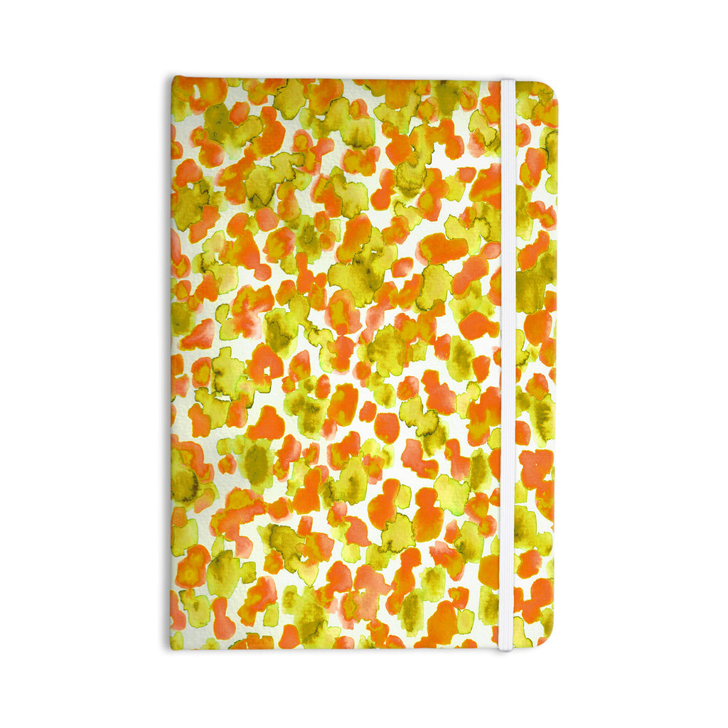 "Ebi Emporium ""Giraffe Spots - Orange"" Orange Yellow Everything Notebook - KESS InHouse  - 1"