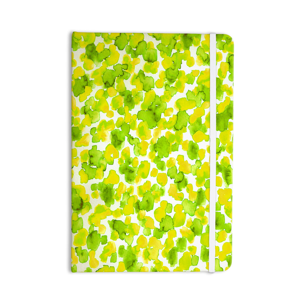 "Ebi Emporium ""Giraffe Spots - Lemon Lime"" Green Yellow Everything Notebook - KESS InHouse  - 1"