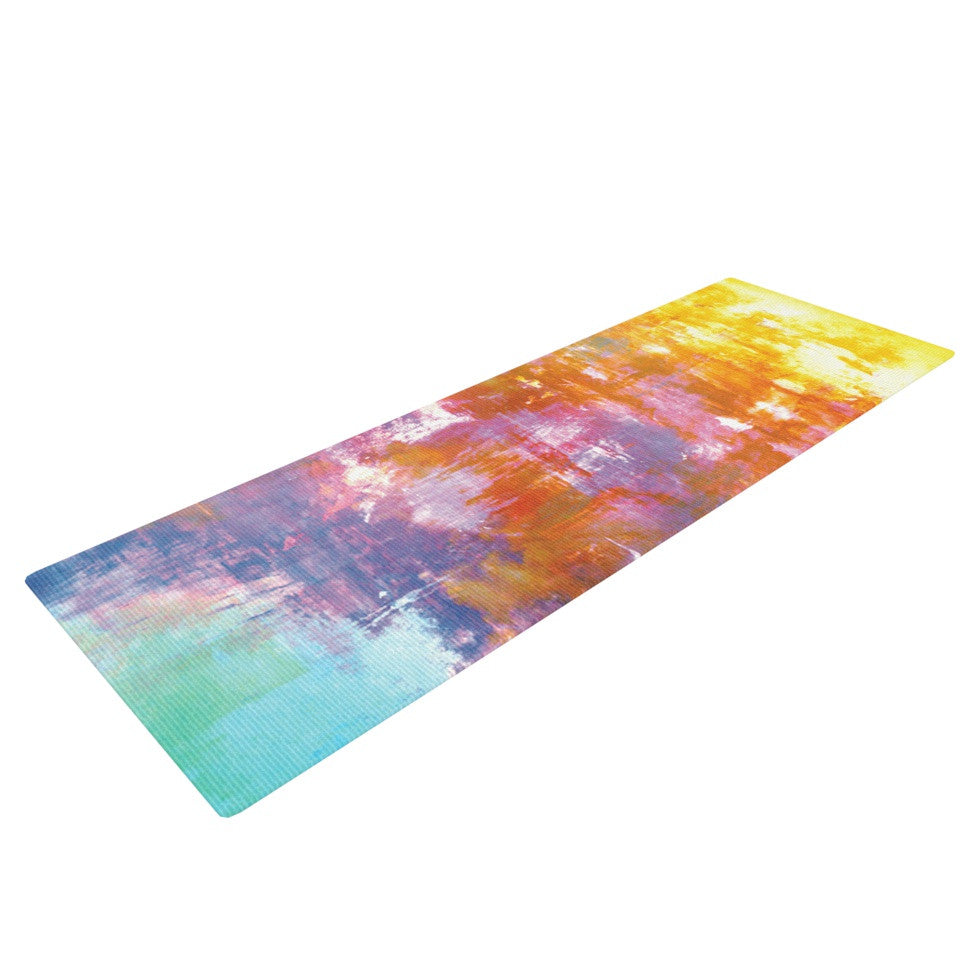 "Ebi Emporium ""Off The Grid II"" Multicolor Painting Yoga Mat - KESS InHouse  - 1"