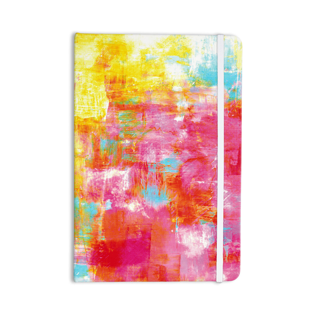 "Ebi Emporium ""Off The Grid III"" Pink Yellow Everything Notebook - KESS InHouse  - 1"