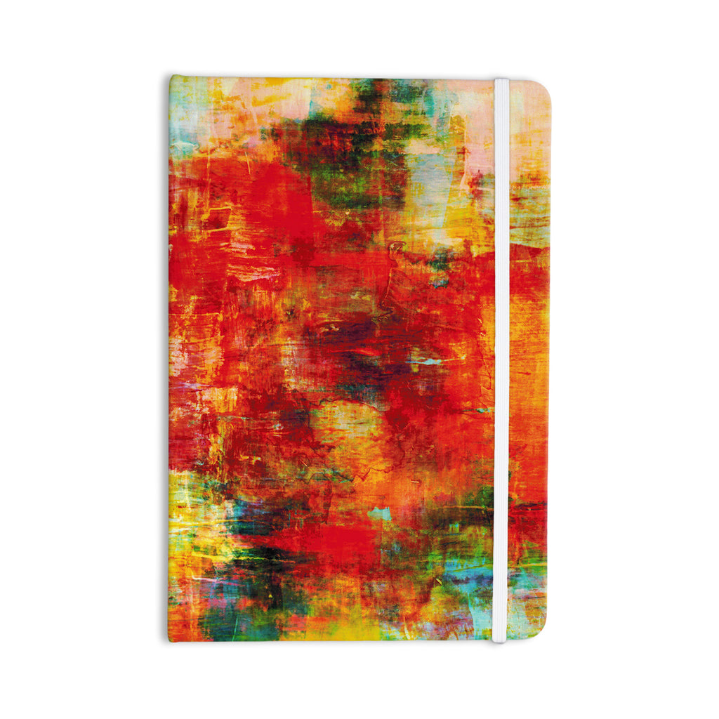 "Ebi Emporium ""Autumn Harvest"" Red Orange Everything Notebook - KESS InHouse  - 1"