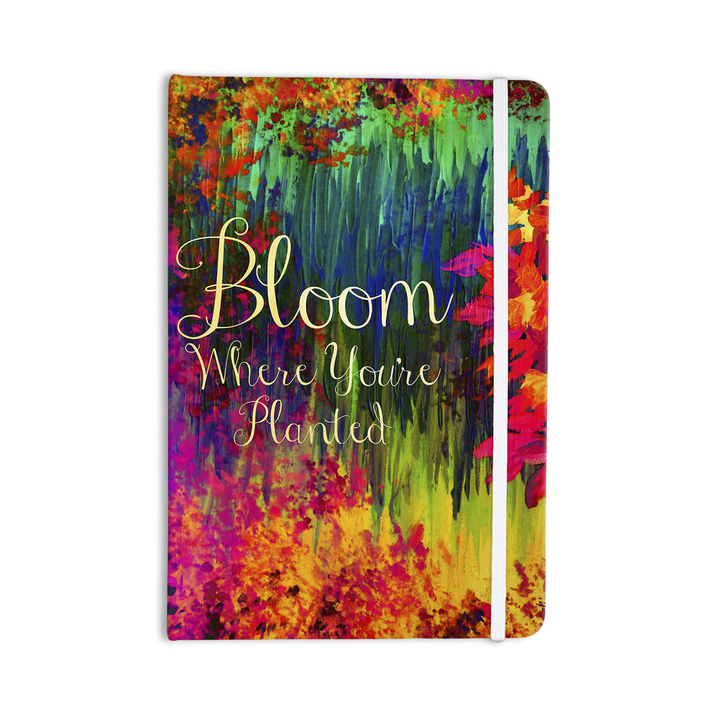 "Ebi Emporium ""Bloom Where You're Planted"" Floral Everything Notebook - KESS InHouse  - 1"