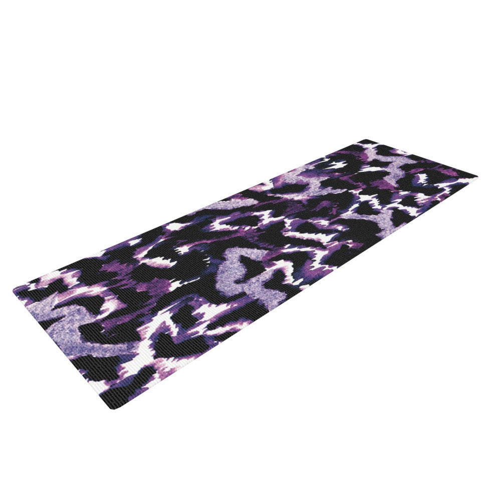 "Ebi Emporium ""Wild at Heart - Purple"" Lavender Yoga Mat - KESS InHouse  - 1"