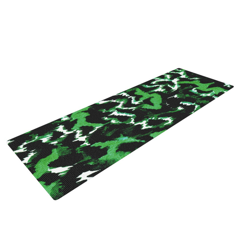 "Ebi Emporium ""Wild at Heart - Green"" Emerald Yoga Mat - KESS InHouse  - 1"